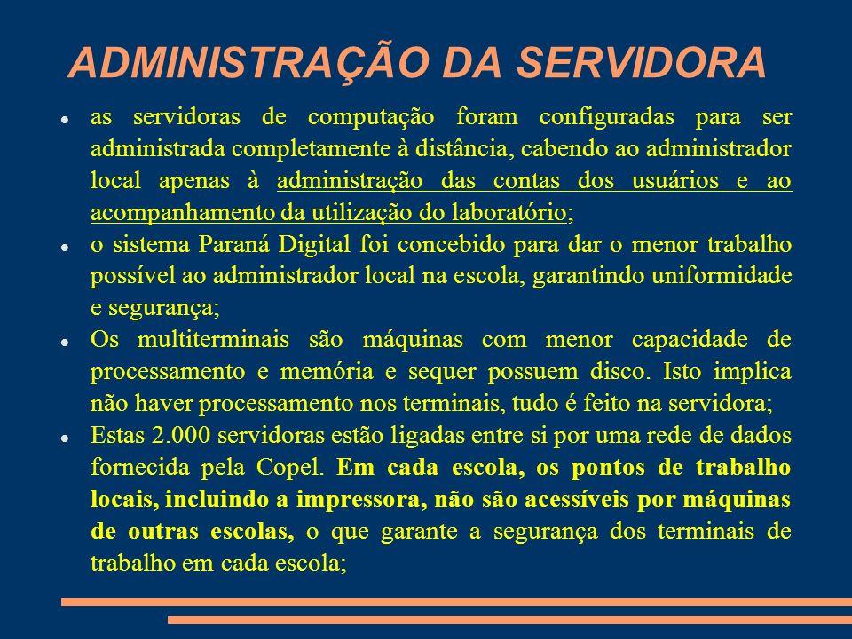 ADMINISTRAÇÃO DA SERVIDORA