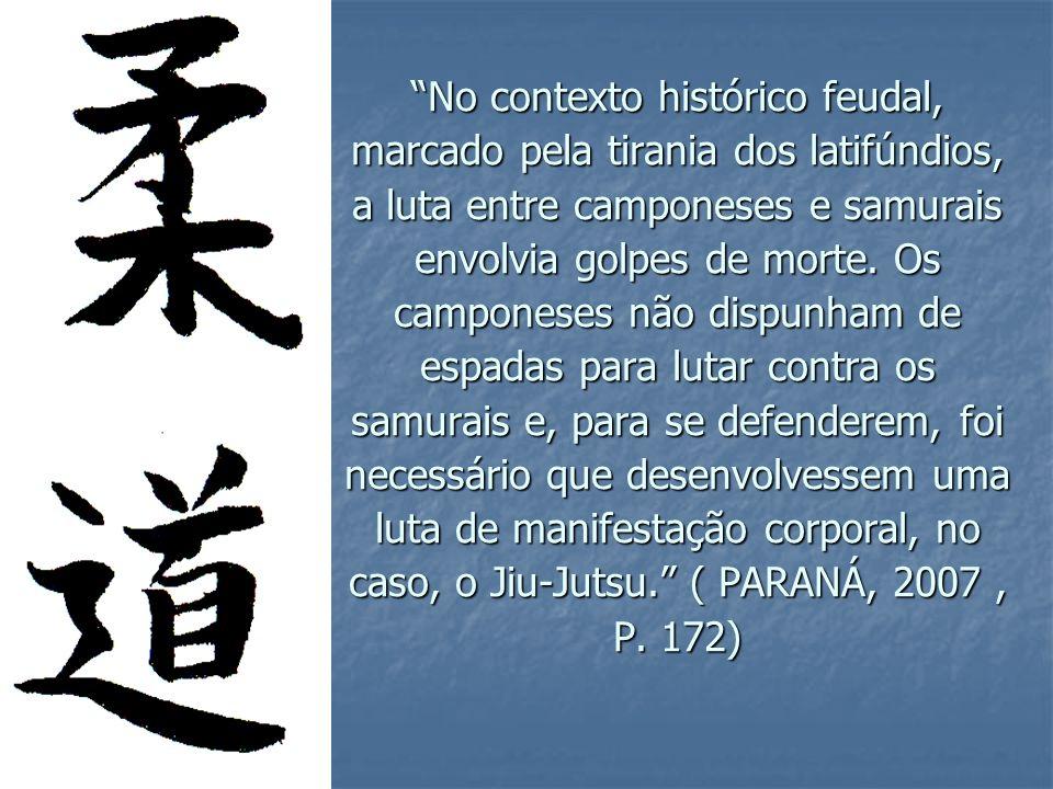 No contexto histórico feudal, marcado pela tirania dos latifúndios, a luta entre camponeses e samurais envolvia golpes de morte.