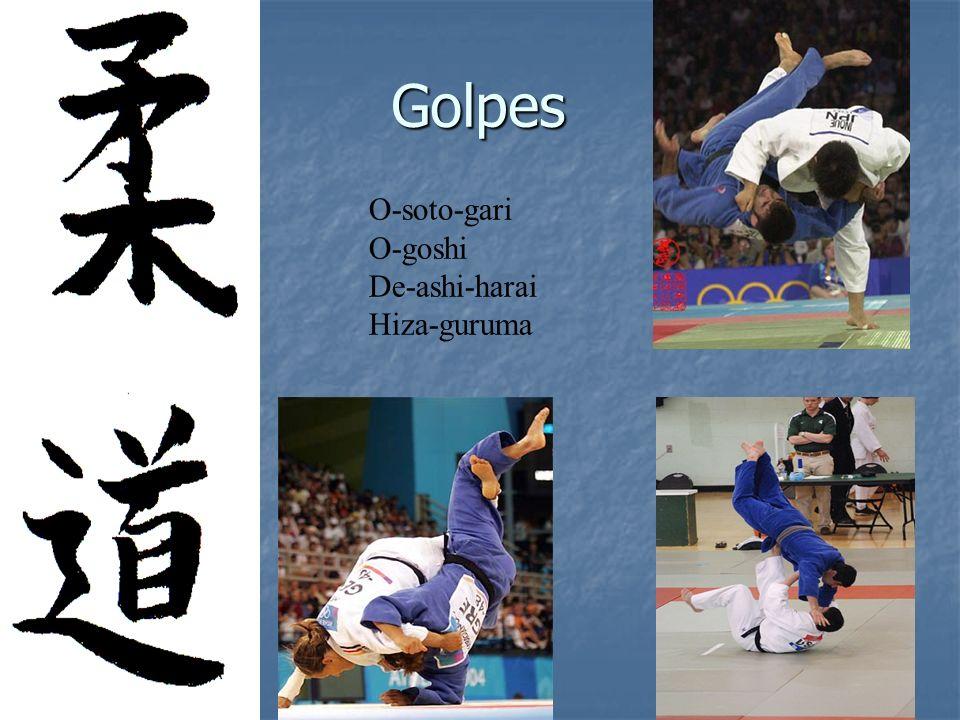 Golpes O-soto-gari O-goshi De-ashi-harai Hiza-guruma