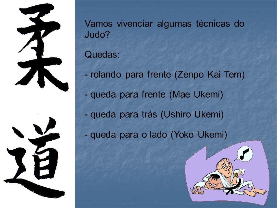 Vamos vivenciar algumas técnicas do Judo