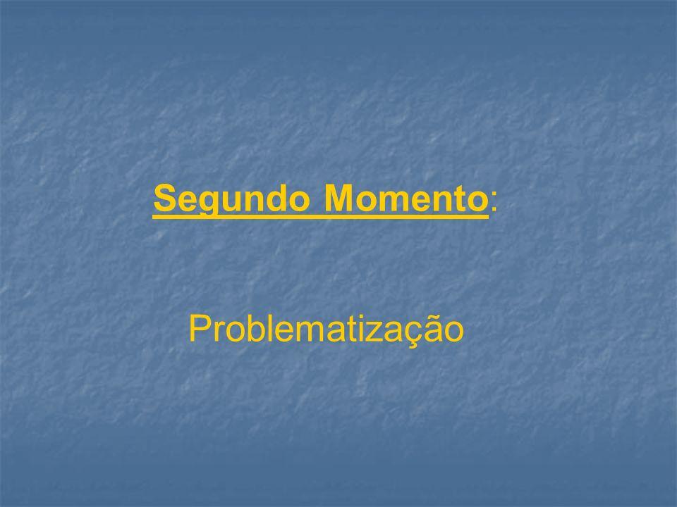 Segundo Momento: Problematização