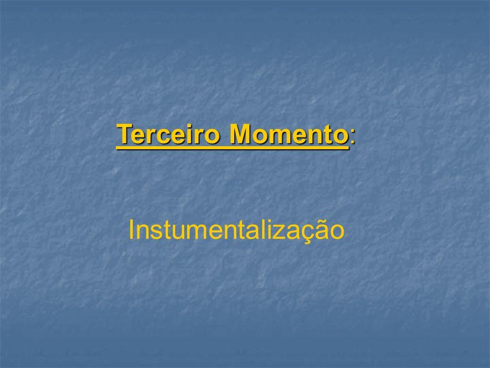 Terceiro Momento: Instumentalização