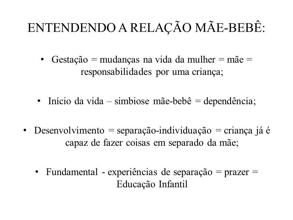 ENTENDENDO A RELAÇÃO MÃE-BEBÊ:
