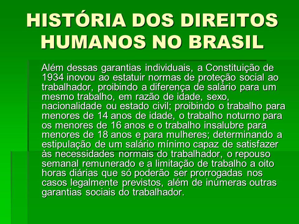 HISTÓRIA DOS DIREITOS HUMANOS NO BRASIL