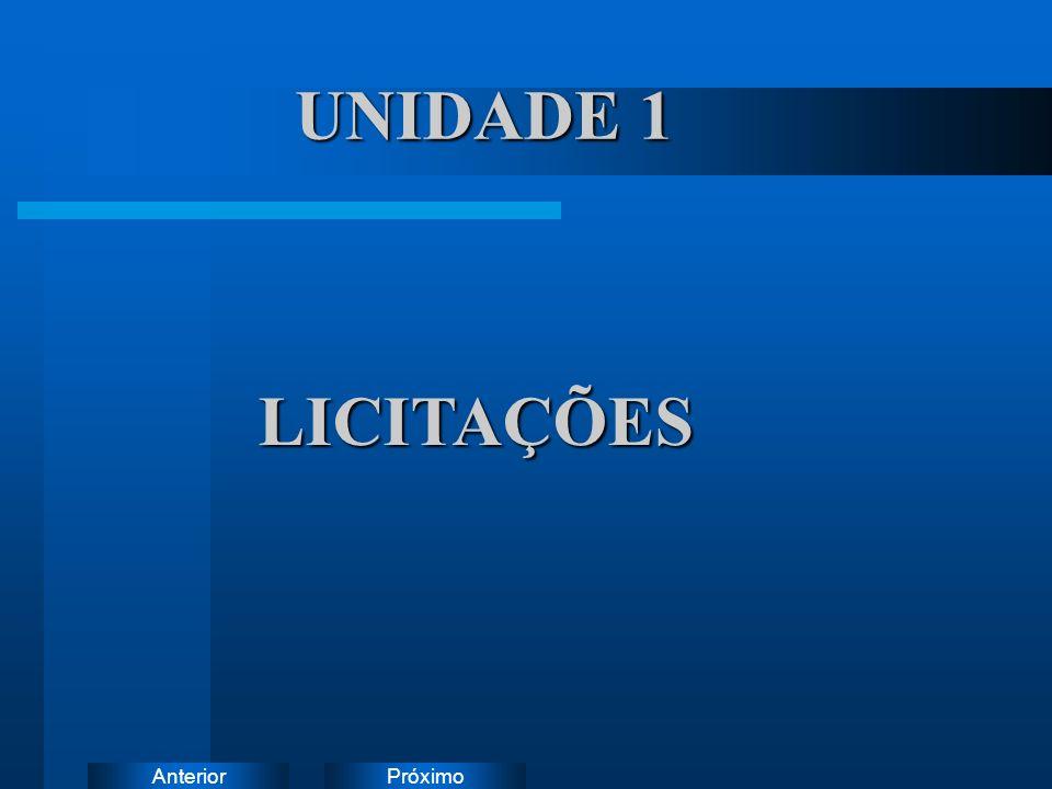 UNIDADE 1 LICITAÇÕES Instruções:
