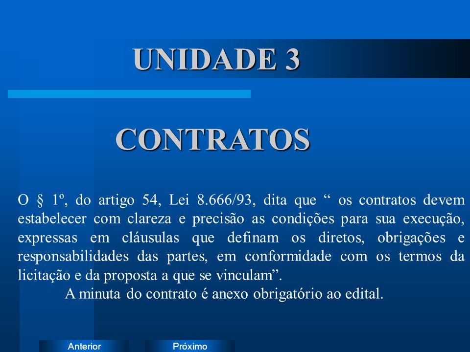 UNIDADE 3 CONTRATOS Instruções: