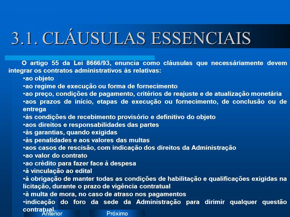 3.1. CLÁUSULAS ESSENCIAIS Instruções: