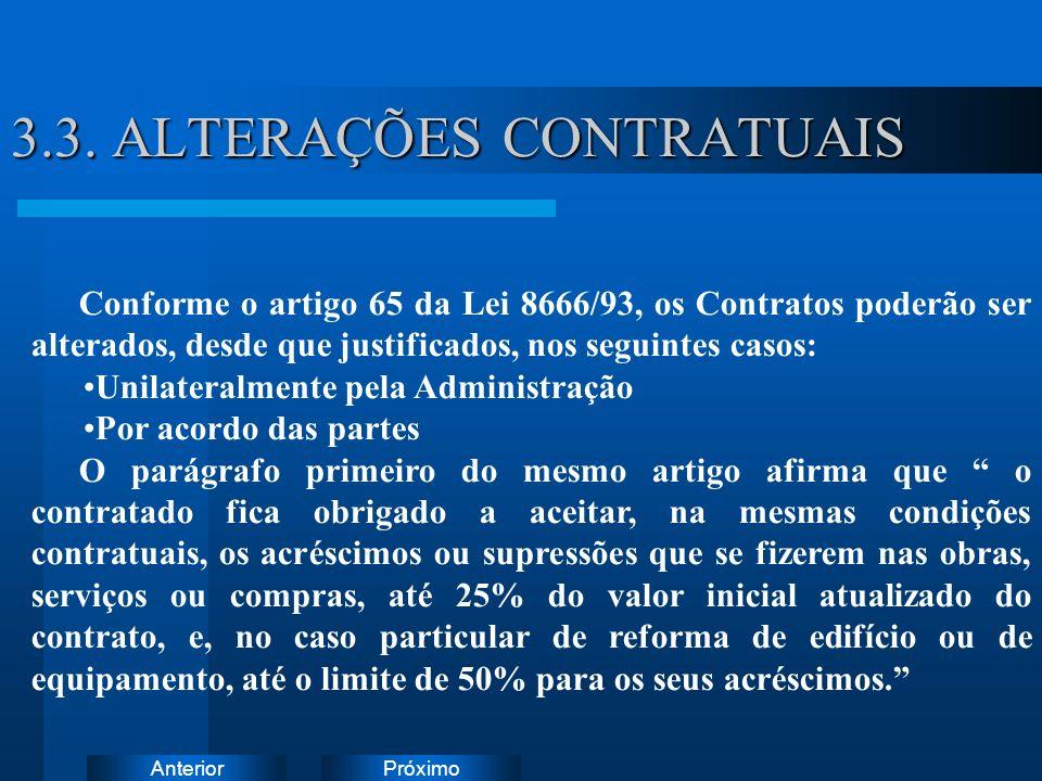 3.3. ALTERAÇÕES CONTRATUAIS