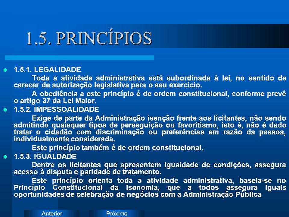 1.5. PRINCÍPIOS Instruções: