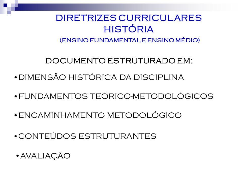 DIRETRIZES CURRICULARES (ENSINO FUNDAMENTAL E ENSINO MÉDIO)
