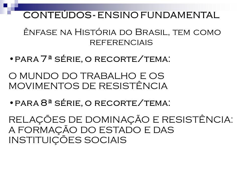 CONTEÚDOS - ENSINO FUNDAMENTAL