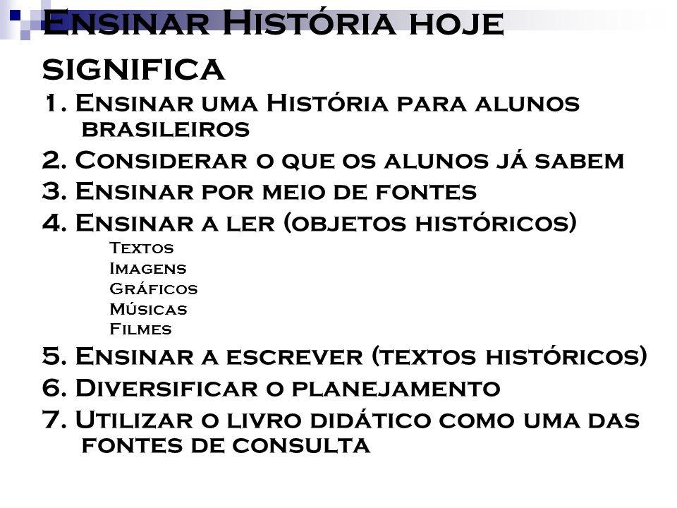 Ensinar História hoje significa