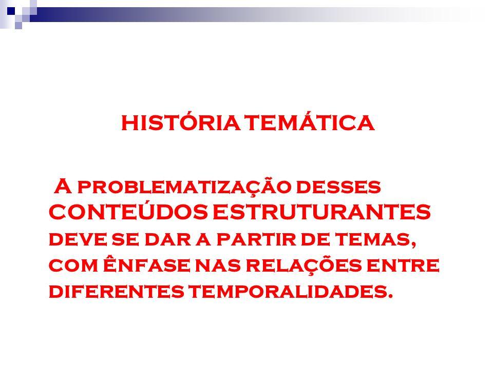 HISTÓRIA TEMÁTICA