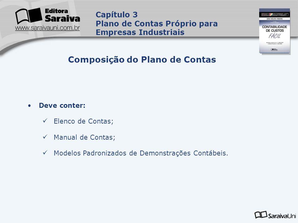 Composição do Plano de Contas