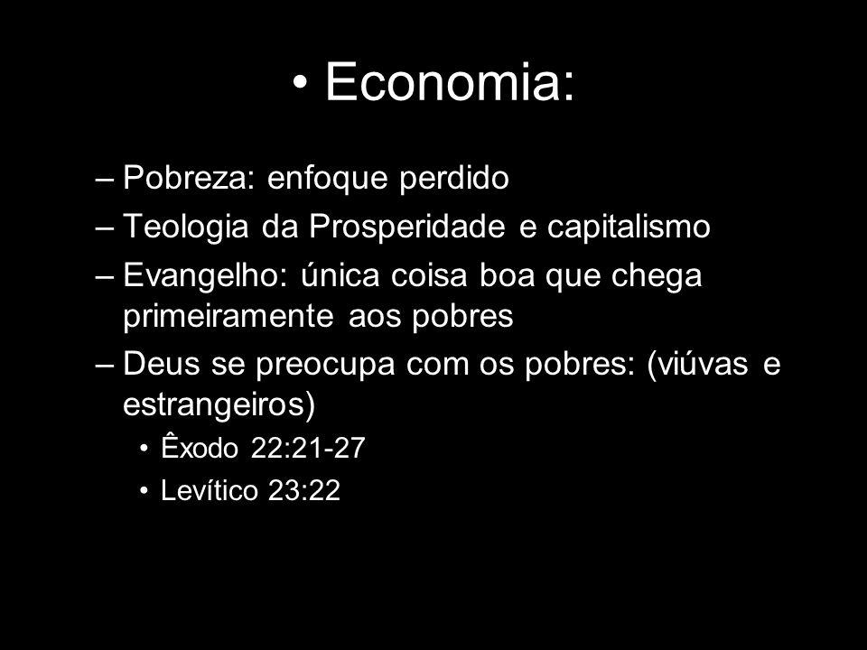 Economia: Pobreza: enfoque perdido