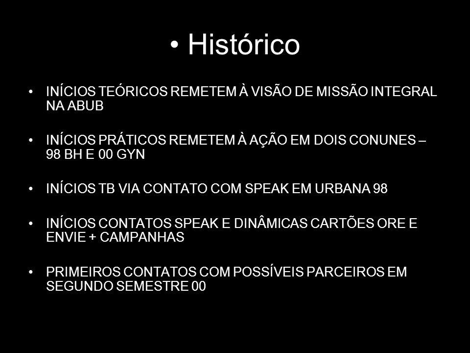 Histórico INÍCIOS TEÓRICOS REMETEM À VISÃO DE MISSÃO INTEGRAL NA ABUB