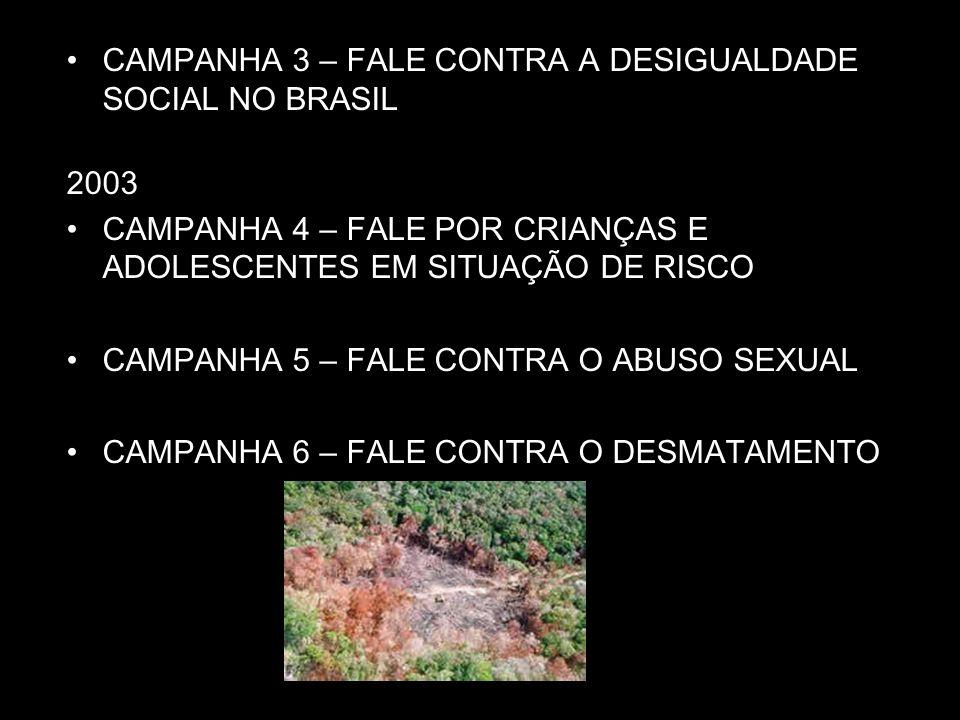 CAMPANHA 3 – FALE CONTRA A DESIGUALDADE SOCIAL NO BRASIL