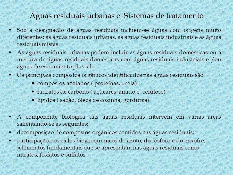 Águas residuais urbanas e Sistemas de tratamento