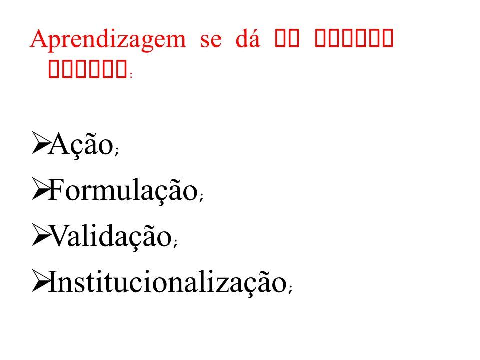 Institucionalização;