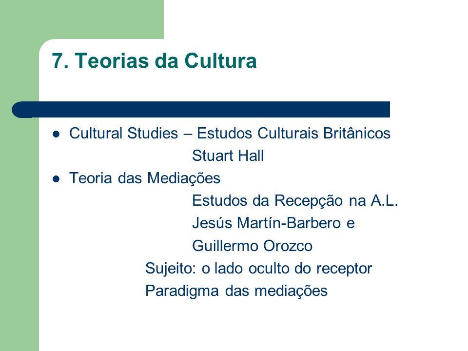 7. Teorias da Cultura Cultural Studies – Estudos Culturais Britânicos
