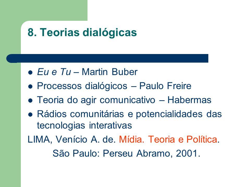8. Teorias dialógicas Eu e Tu – Martin Buber