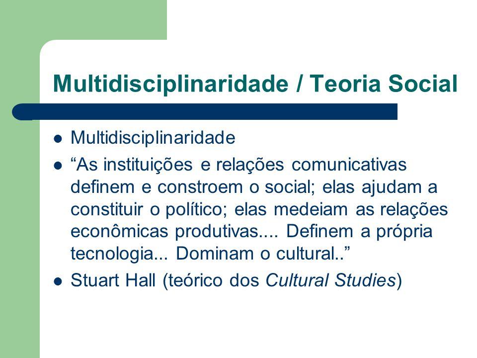 Multidisciplinaridade / Teoria Social