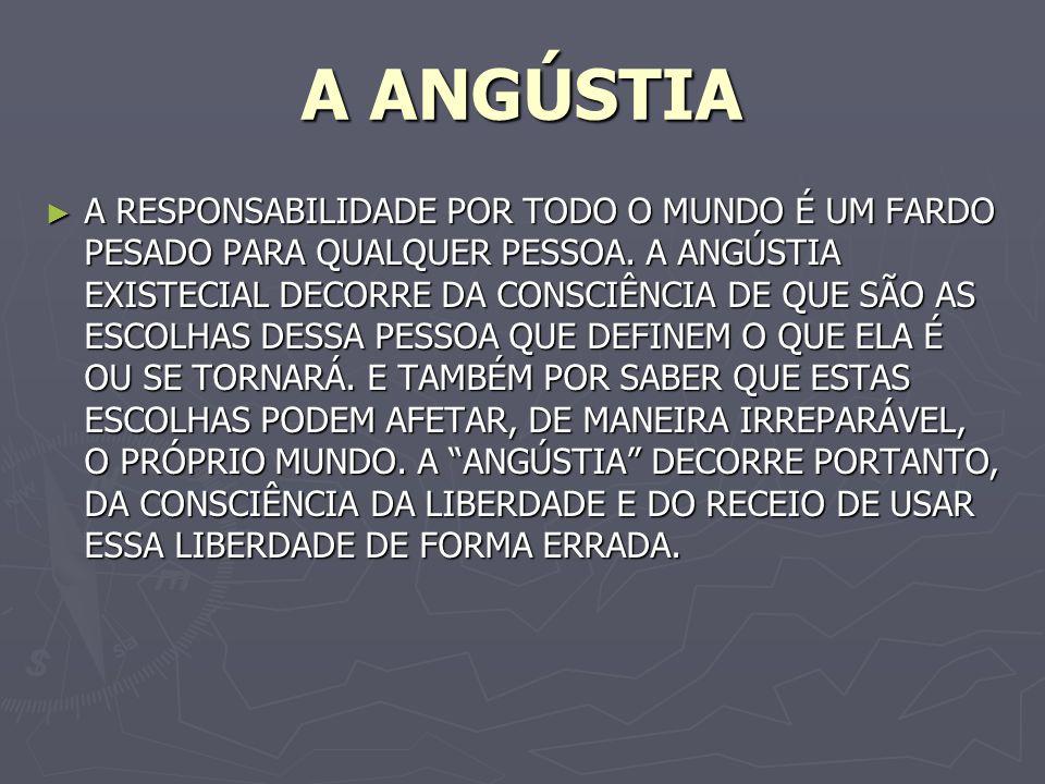 A ANGÚSTIA