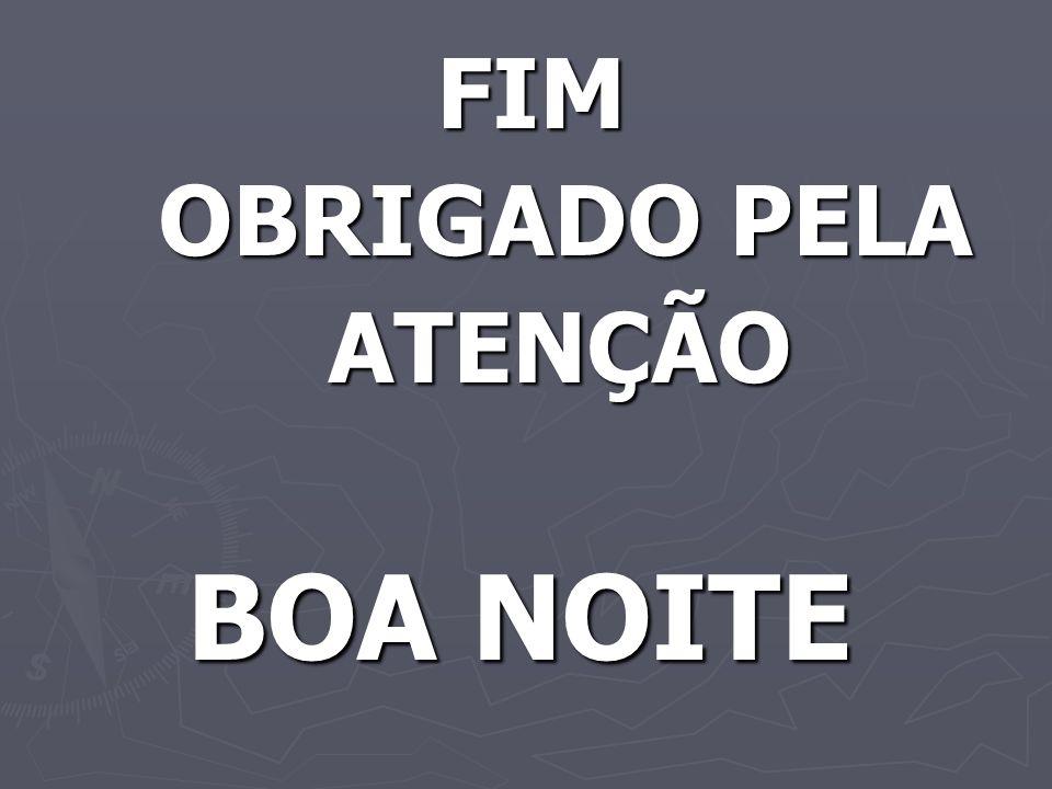 FIM OBRIGADO PELA ATENÇÃO BOA NOITE