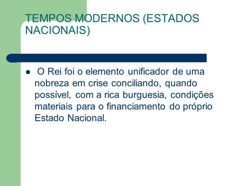 TEMPOS MODERNOS (ESTADOS NACIONAIS)