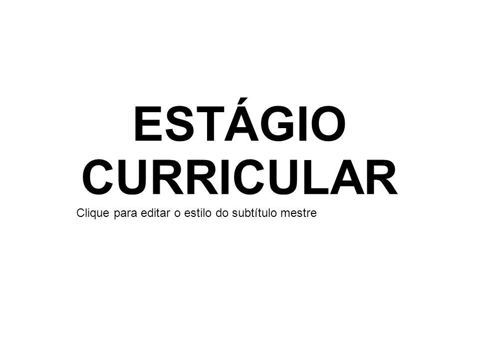ESTÁGIO CURRICULAR