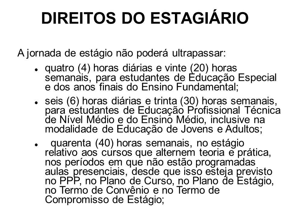 DIREITOS DO ESTAGIÁRIO