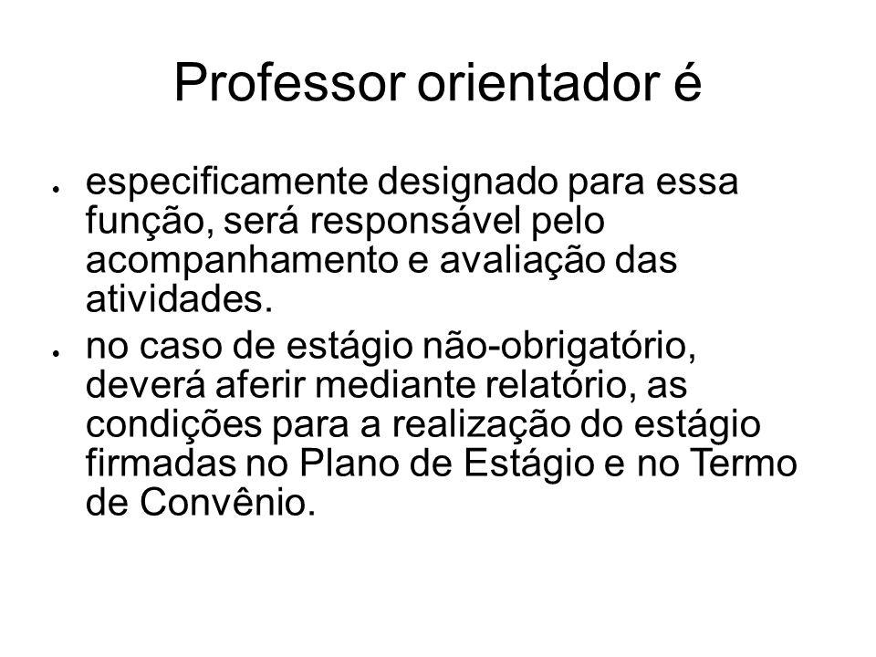 Professor orientador é