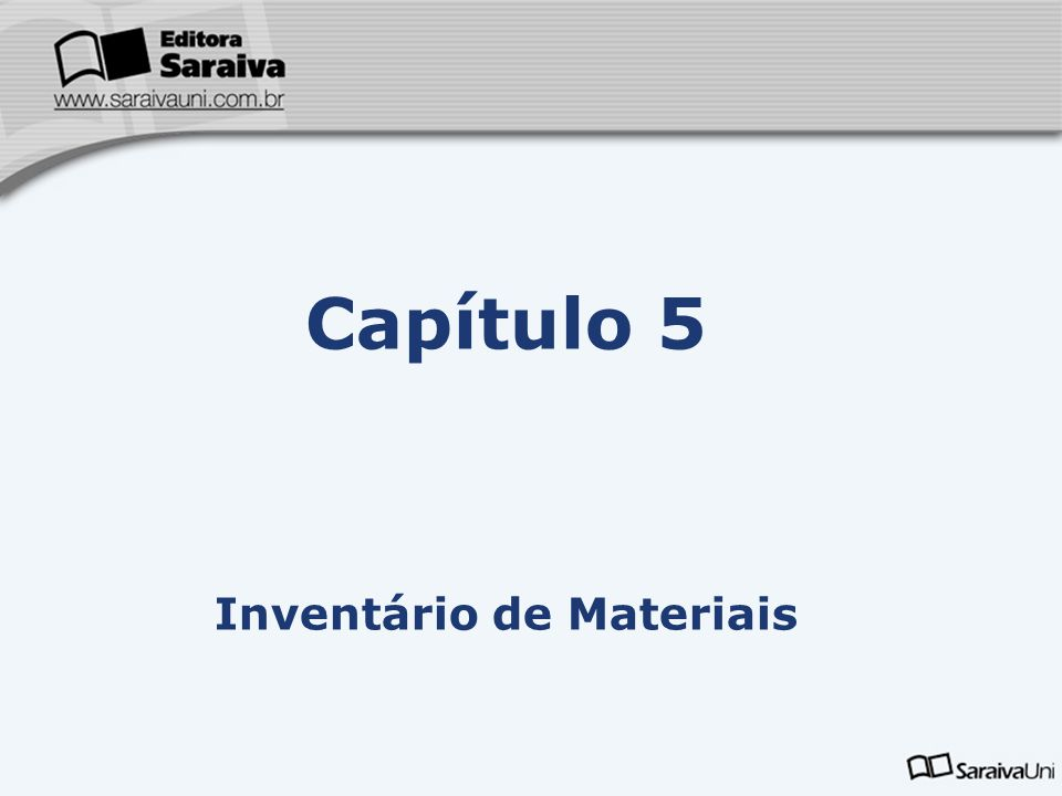 Inventário de Materiais