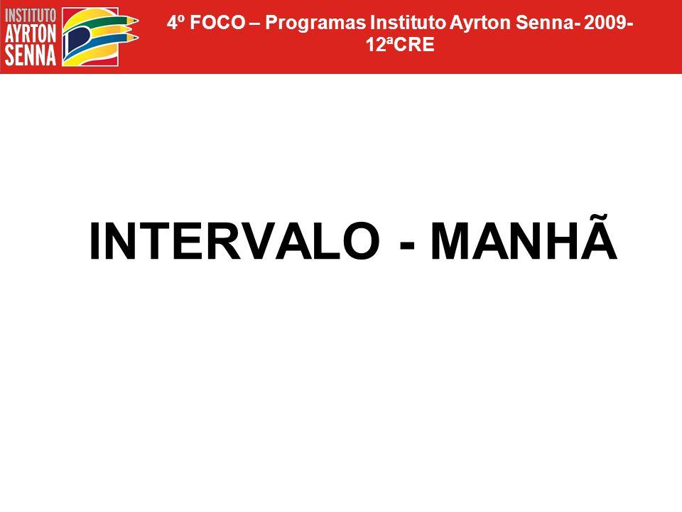 4º FOCO – Programas Instituto Ayrton Senna- 2009-12ªCRE