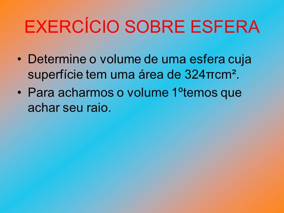 EXERCÍCIO SOBRE ESFERA