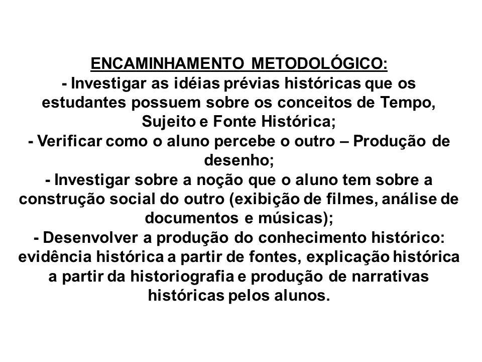 ENCAMINHAMENTO METODOLÓGICO: