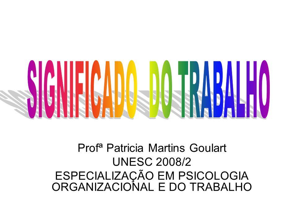 Profª Patricia Martins Goulart UNESC 2008/2