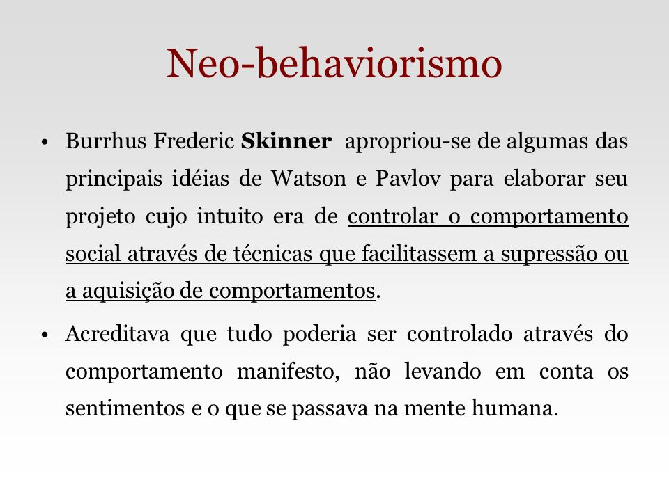 Neo-behaviorismo