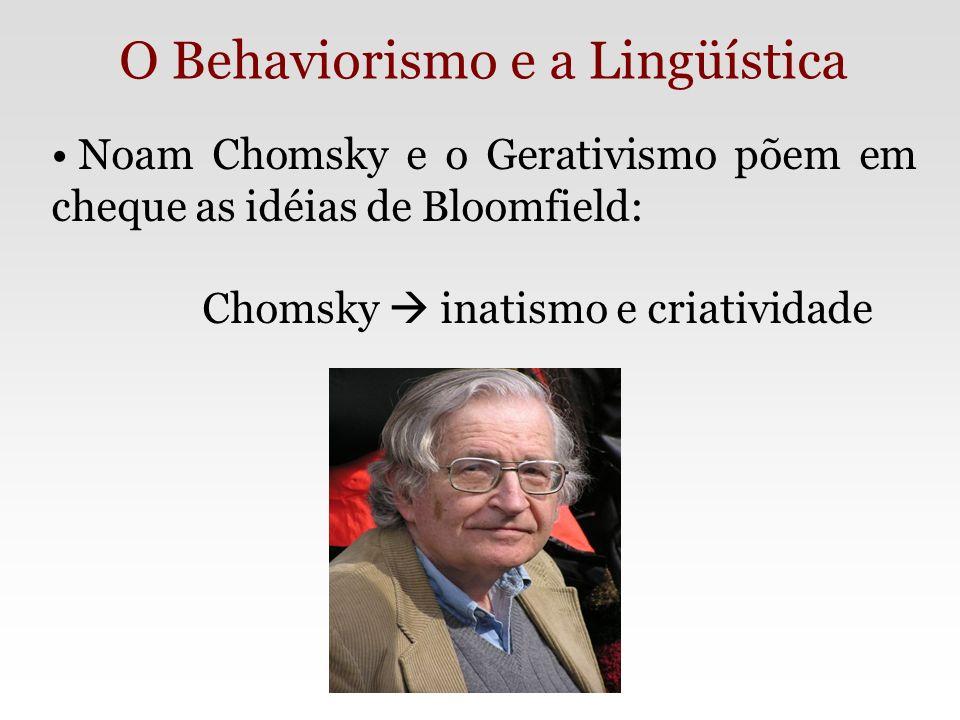 O Behaviorismo e a Lingüística