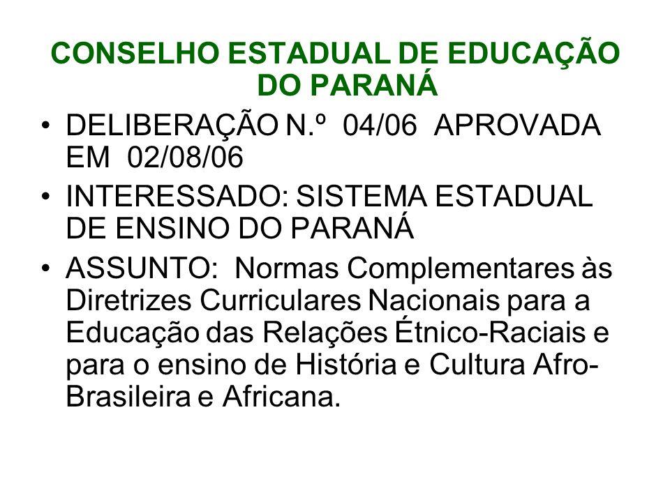 CONSELHO ESTADUAL DE EDUCAÇÃO DO PARANÁ