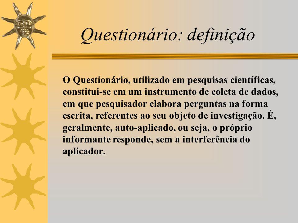 Questionário: definição