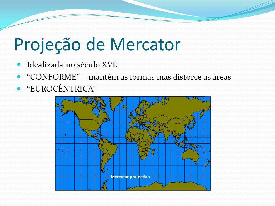 Projeção de Mercator Idealizada no século XVI;