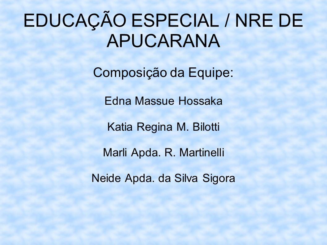 EDUCAÇÃO ESPECIAL / NRE DE APUCARANA