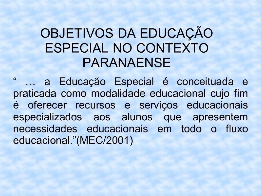 OBJETIVOS DA EDUCAÇÃO ESPECIAL NO CONTEXTO PARANAENSE