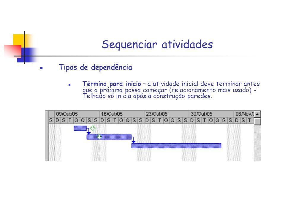 Sequenciar atividades