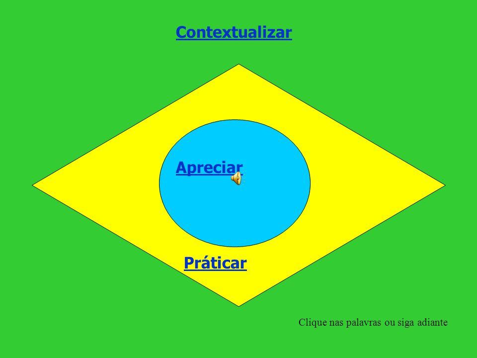 Contextualizar Apreciar Práticar Clique nas palavras ou siga adiante