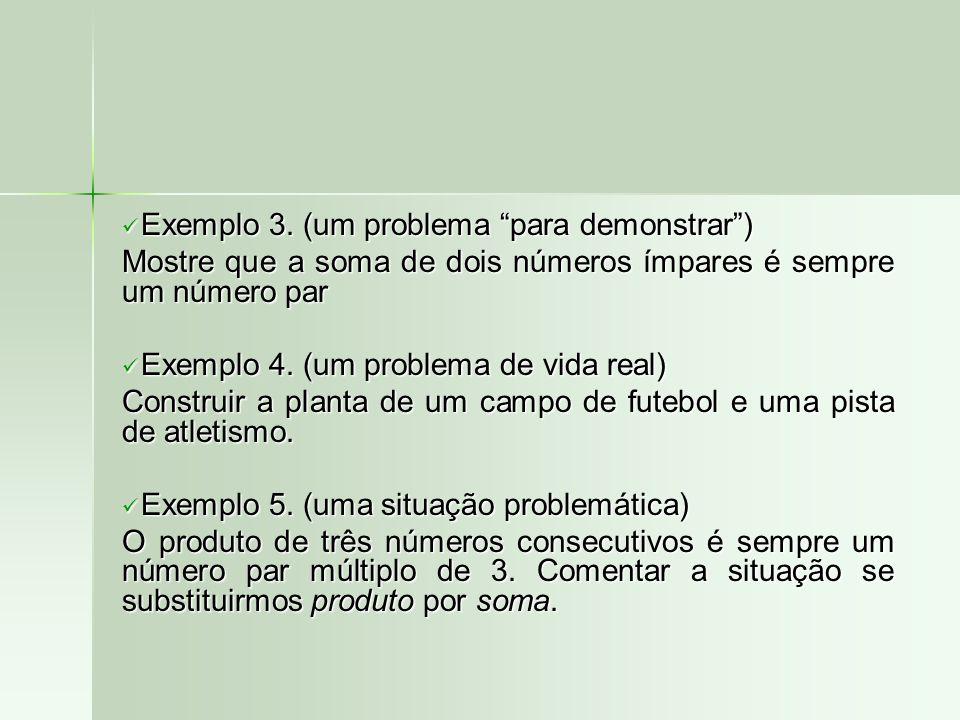Exemplo 3. (um problema para demonstrar )