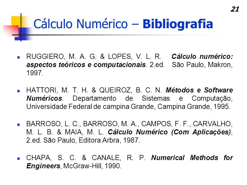 Cálculo Numérico – Bibliografia