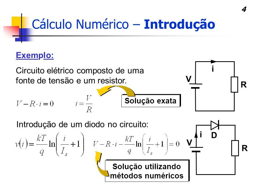 Solução utilizando métodos numéricos