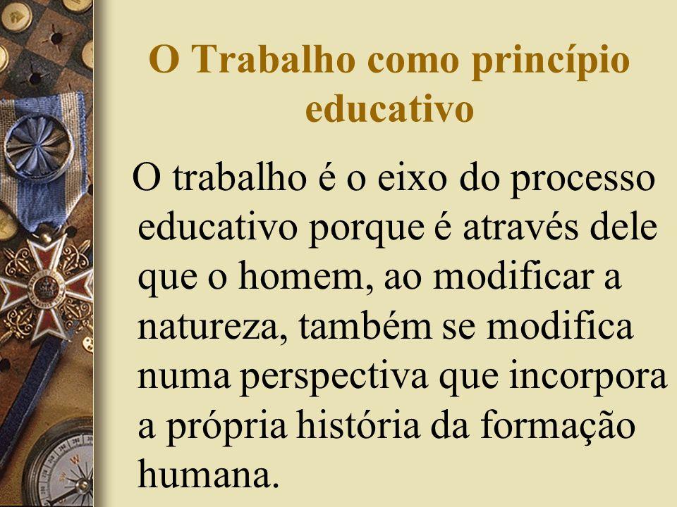 O Trabalho como princípio educativo